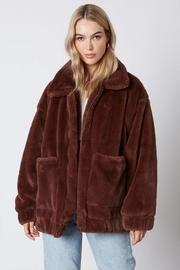Cotton Candy Faux-Fur Teddy Coat - Front cropped