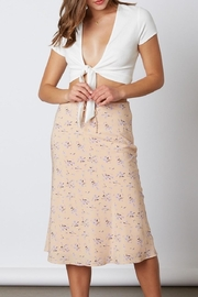 Cotton Candy Floral Midi Skirt - Product Mini Image