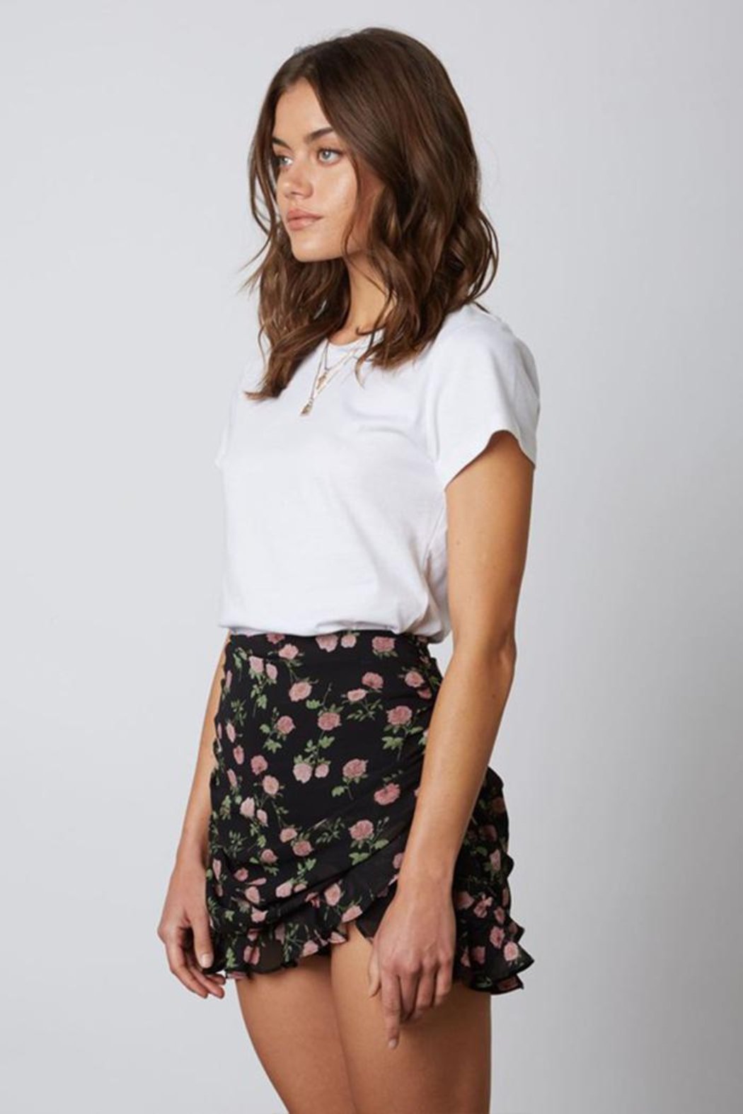 Cotton Candy Floral Mini Skirt - Front Full Image