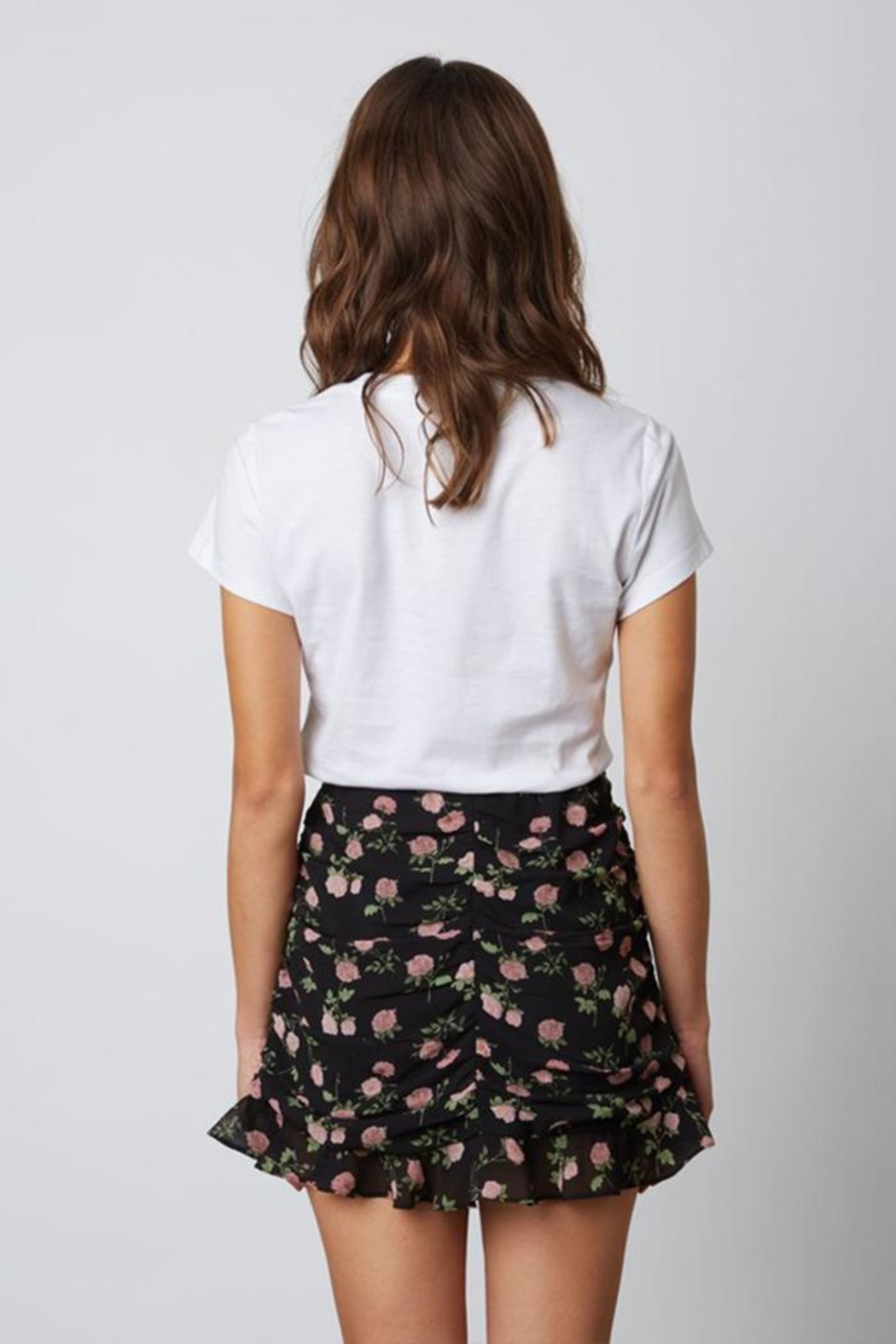Cotton Candy Floral Mini Skirt - Side Cropped Image
