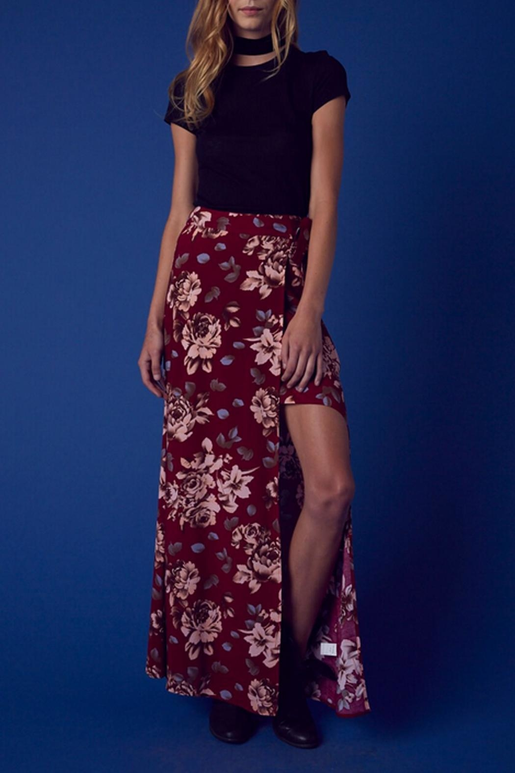 Cotton Candy Floral Wrap Skirt - Main Image