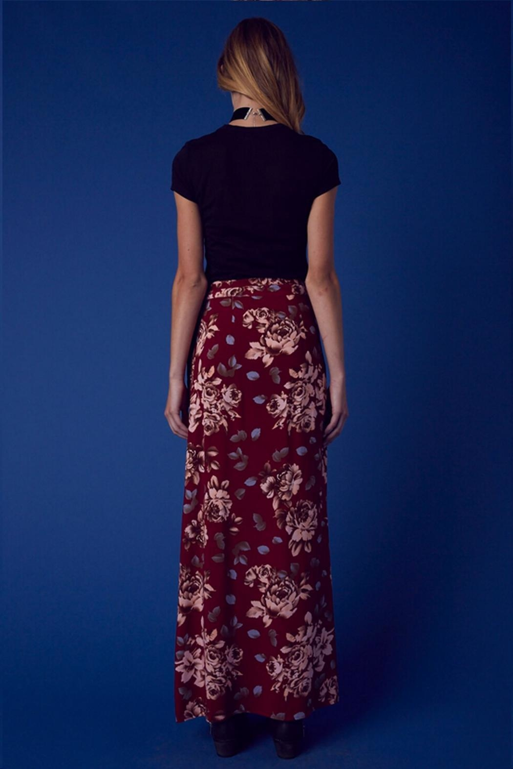 Cotton Candy Floral Wrap Skirt - Side Cropped Image