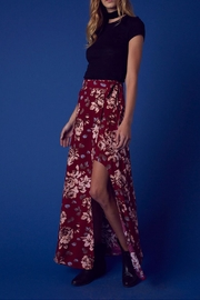 Cotton Candy Floral Wrap Skirt - Front full body