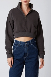 Cotton Candy Half-Zip Cropped Sweater - Product Mini Image