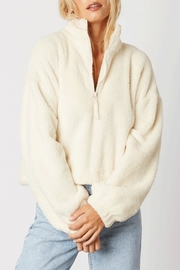 Cotton Candy Half-Zip Plush Pullover - Front cropped