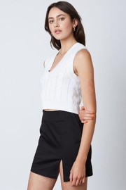 Cotton Candy High-Rise Mini Skirt With Side Slit - Side cropped