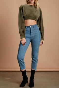 Shoptiques Product: Lace-Up Velvet Crop