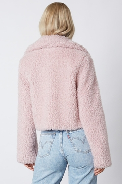 Cotton Candy Lilac Cropped Teddy-Coat - Alternate List Image