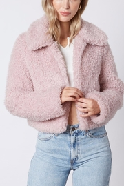 Cotton Candy Lilac Cropped Teddy-Coat - Product Mini Image
