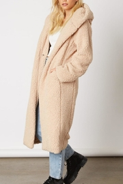 Cotton Candy Long Teddy Coat - Front full body