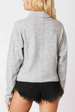 Cotton Candy Marled High-Neck Sweater - Alternate List Image