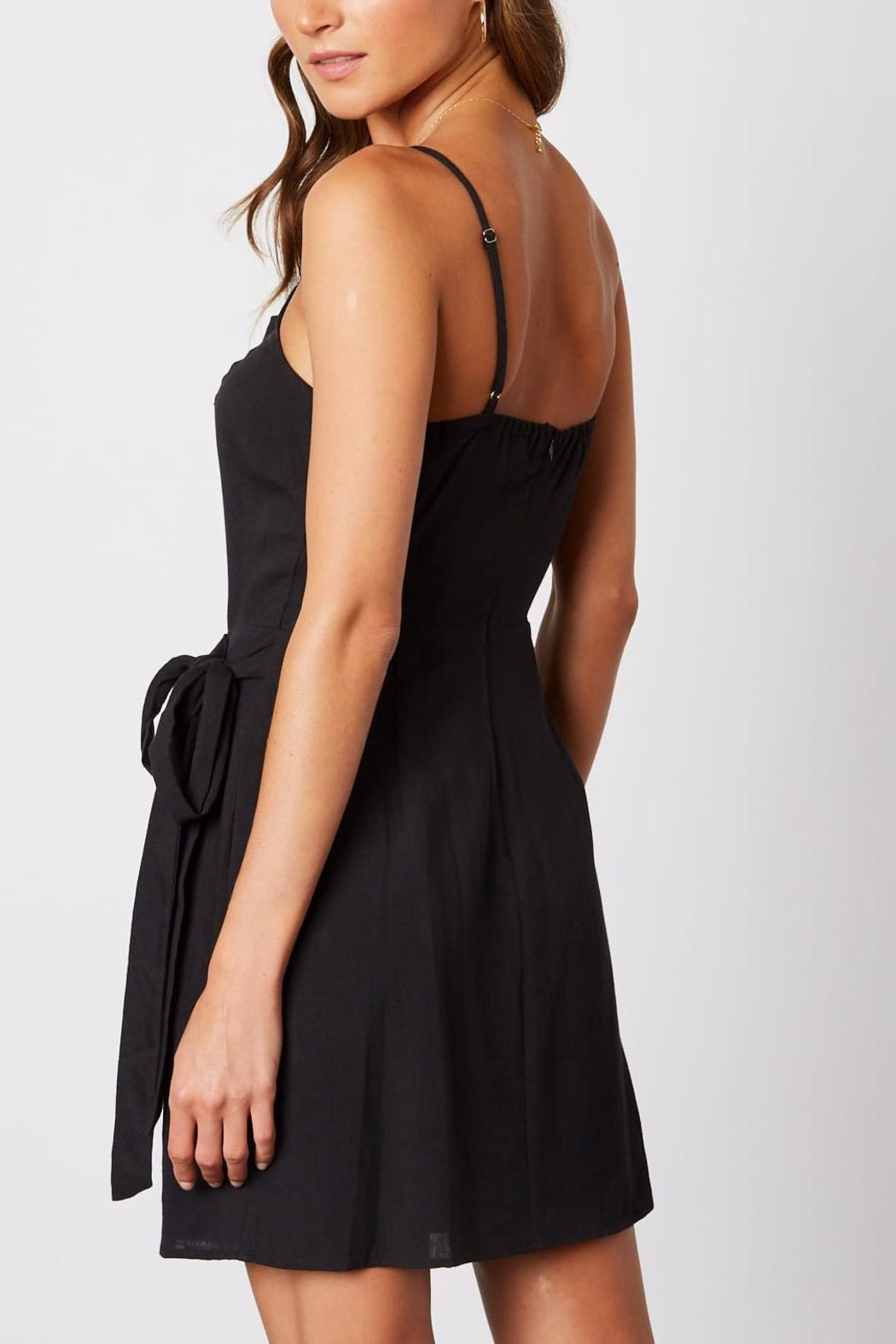 Cotton Candy One-Shoulder Ruffle Dress - Side Cropped Image