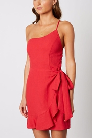 Cotton Candy One-Shoulder Ruffle Dress - Side cropped