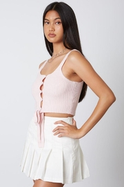 Cotton Candy Open Ribbed Sweater Tank - Front full body