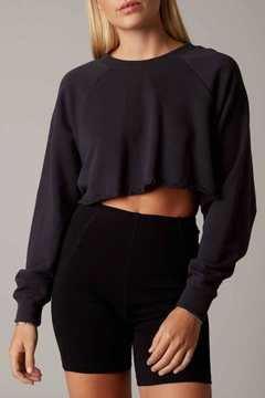 Cotton Candy Raw-Cut Cropped Sweater - Product List Image