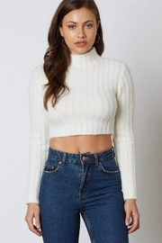 Cotton Candy Ribbed Cropped Sweater - Product Mini Image
