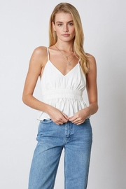 Cotton Candy Ruffle Peplum Cami - Front cropped