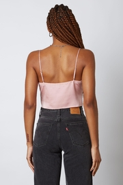 Cotton Candy Satin Tie Front Cami Top - Side cropped