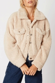 Cotton Candy Short Teddy Coat - Product Mini Image