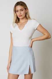 Cotton Candy Slit Mini Skirt - Front cropped