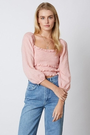 Cotton Candy Smocked Crop Top - Product Mini Image