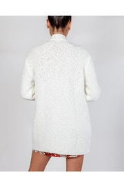 Cotton Candy Snowball White Cardigan - Back cropped