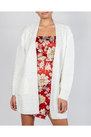 Cotton Candy Snowball White Cardigan - Product Mini Image