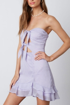 Cotton Candy Strapless Lilac Dress - Product List Image