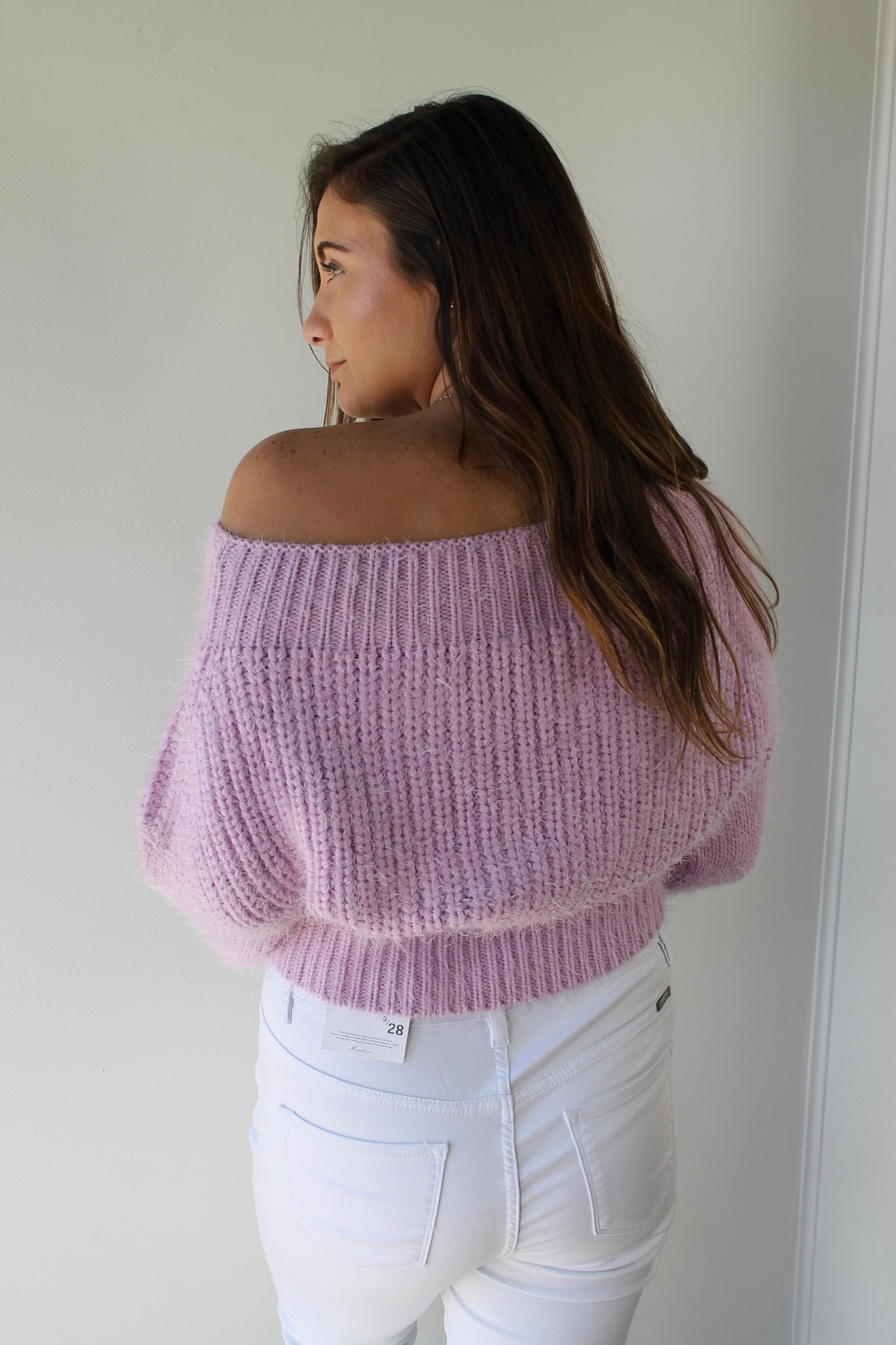 Cotton Candy LA Aspen Lilac Sweater - Front Full Image