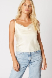 Cotton Candy LA Cream Satin Cami - Product Mini Image