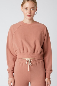 Cotton Candy LA Cropped Crewneck Sweater - Product List Image