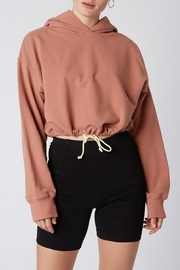 Cotton Candy LA Cropped Drawstring Hoodie - Front cropped
