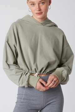 Cotton Candy LA Cropped Hoodie Sweater - Product List Image