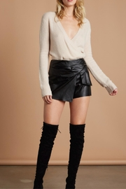 Cotton Candy LA Faux Leather Skort - Front cropped