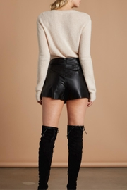 Cotton Candy LA Faux Leather Skort - Front full body