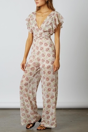 Cotton Candy LA Floral Chiffon Jumpsuit - Back cropped