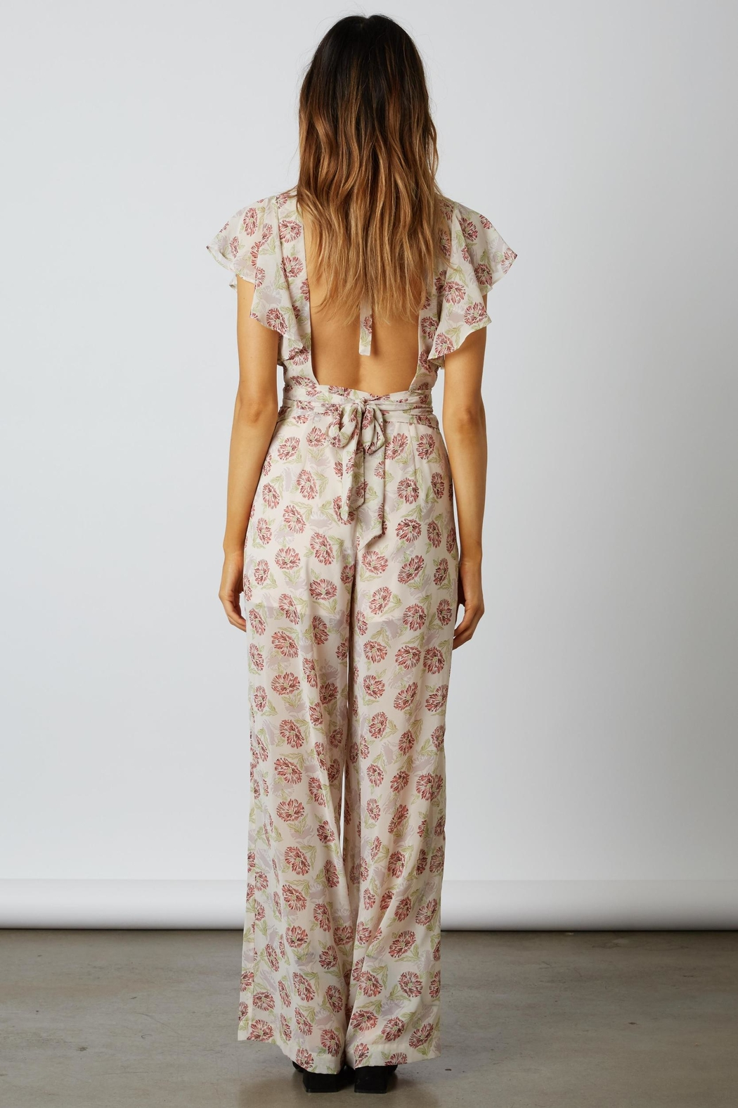 Cotton Candy LA Floral Chiffon Jumpsuit - Front Full Image