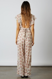 Cotton Candy LA Floral Chiffon Jumpsuit - Front full body