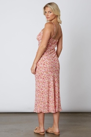 Cotton Candy LA Floral Midi Dress - Front full body
