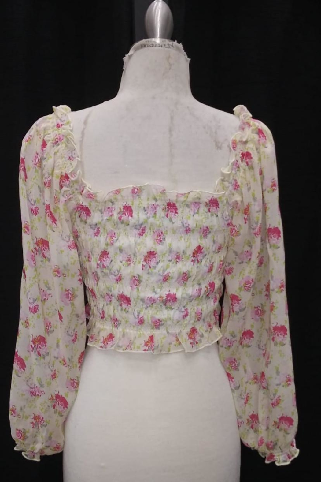 Cotton Candy LA Floral Shirring Top - Front Full Image