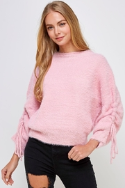 Cotton Candy LA Fuzzy Tie Sweater - Product Mini Image