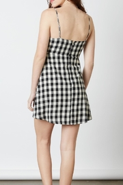 Cotton Candy LA Gingham Mini Dress - Side cropped