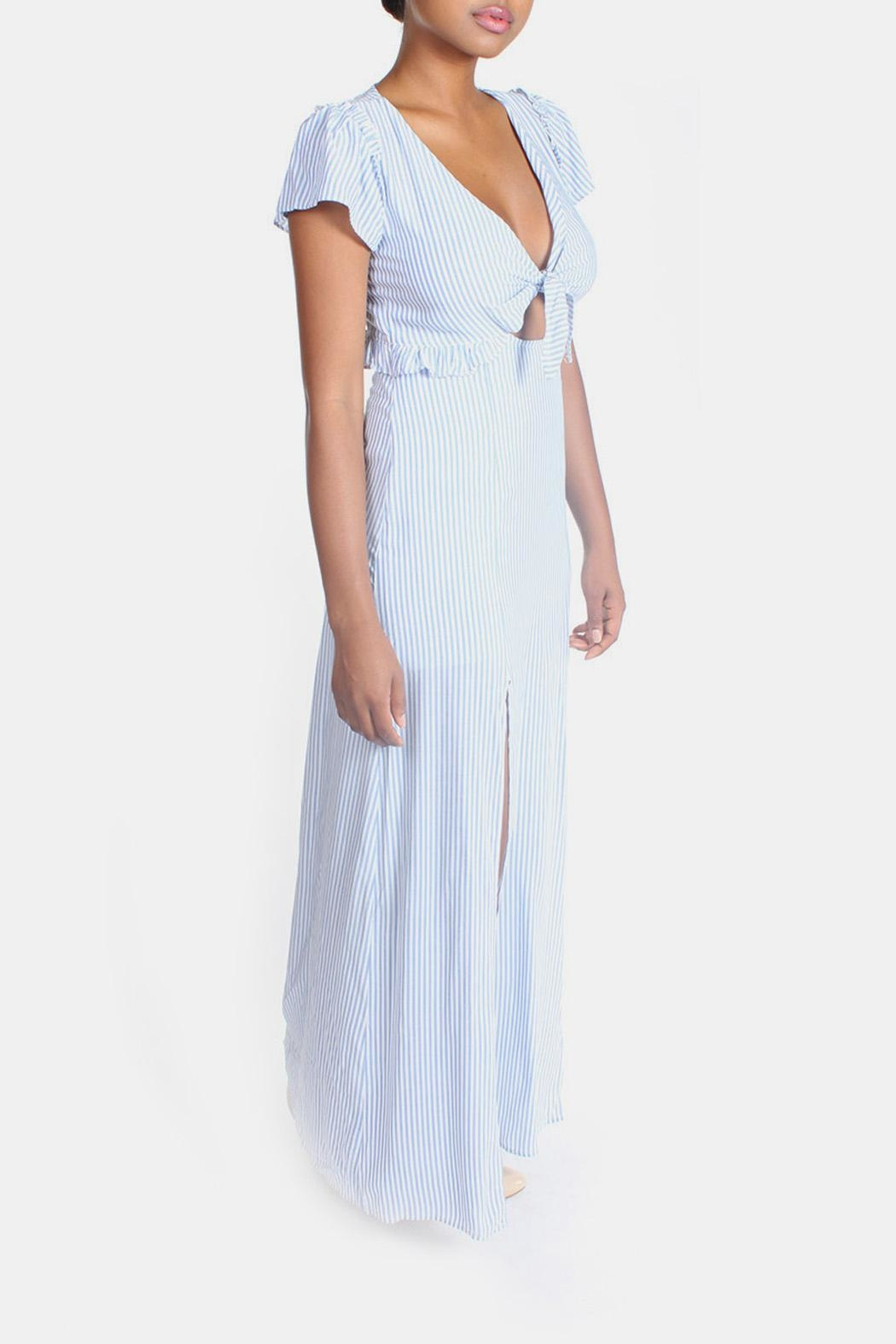 Cotton Candy LA Harbor Cut Out Maxi - Front Full Image