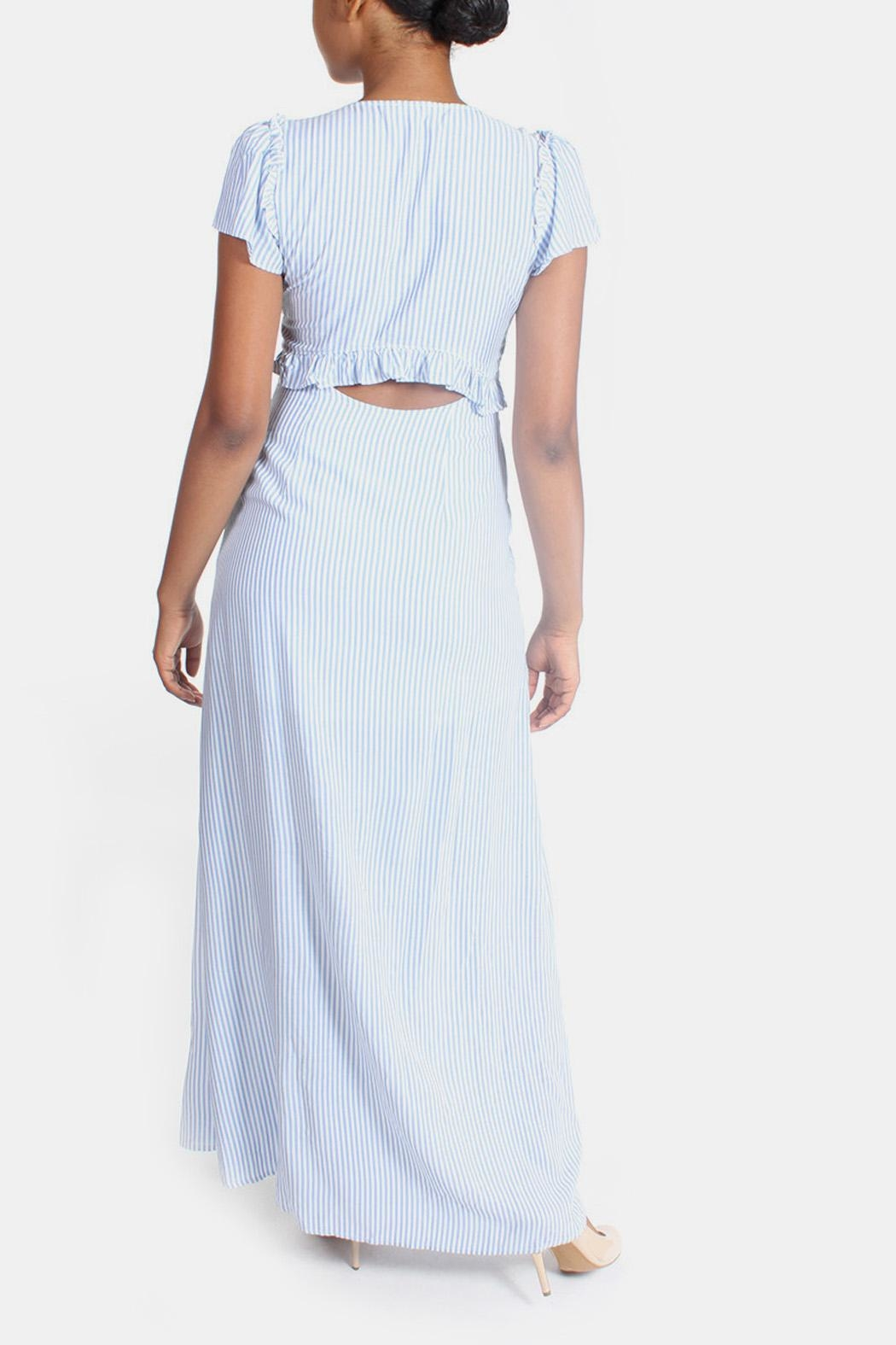 Cotton Candy LA Harbor Cut Out Maxi - Back Cropped Image