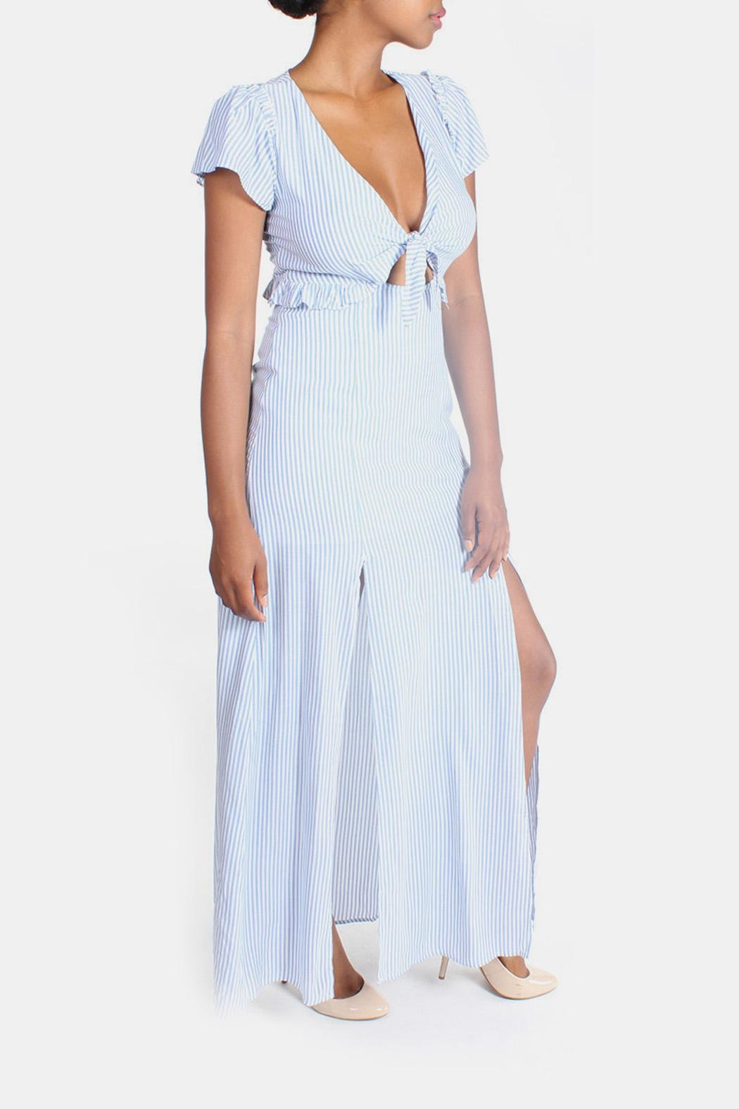 Cotton Candy LA Harbor Cut Out Maxi - Side Cropped Image