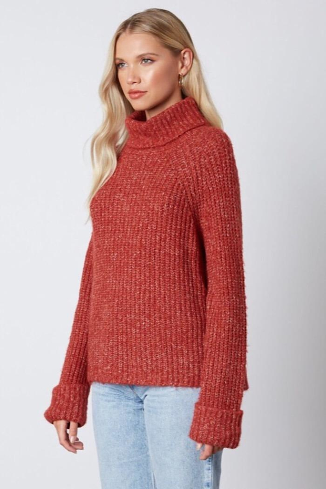 Cotton Candy LA Knit Sweater - Side Cropped Image