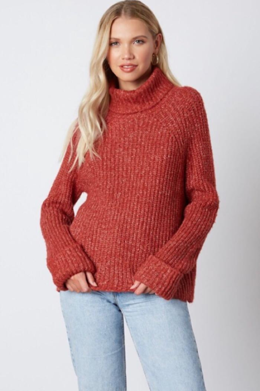 Cotton Candy LA Knit Sweater - Front Cropped Image