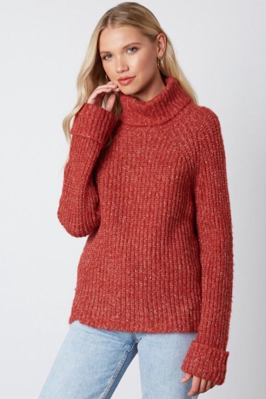 Cotton Candy LA Knit Sweater - Front Full Image