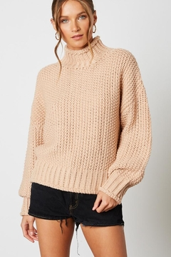 Cotton Candy LA Knitted High-Neck Sweater - Product List Image