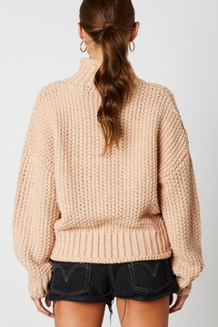 Cotton Candy LA Knitted High-Neck Sweater - Alternate List Image